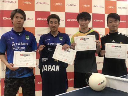 「第2回全日本ヘディス選手権 エリア予選」個人ランキングポイント