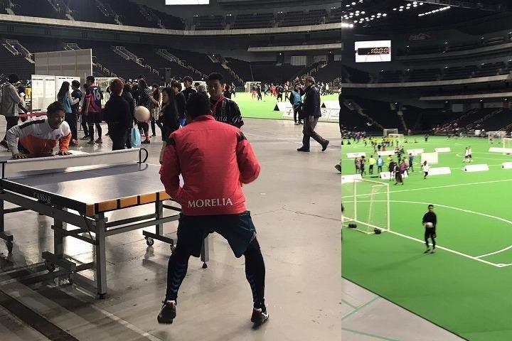 「音蹴杯2017」とのコラボでヘディス体験会を実施